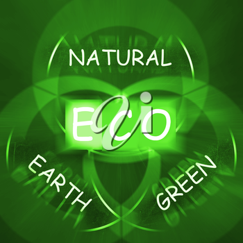 ECO On Blackboard Displaying Environmental Care Or Eco-Friendly Nature