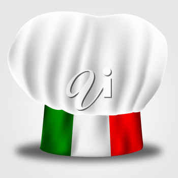 Italy Chef Indicating Cooking In Kitchen And Chef's Whites