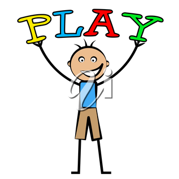 Kids Play Indicating Free Time And Leisure