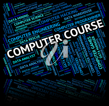 Computer Course Indicating Technology Processor And Pc