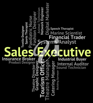 Sales Executive Showing Senior Manager And Controller