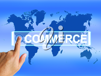 Commerce Map Showing International Commercial and Financial Business