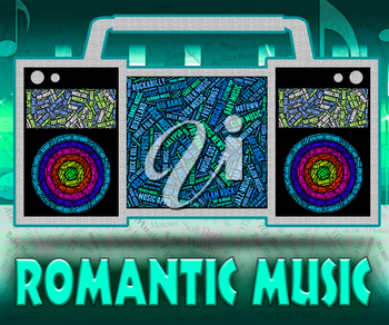 Romantic Music Indicating Sound Track And Audio