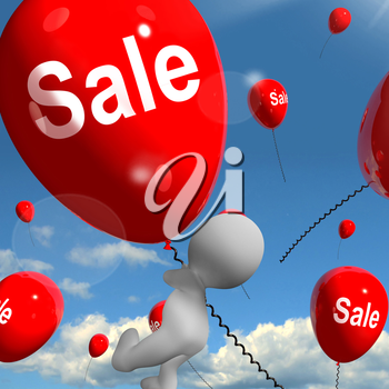 Sale Balloon Showing Offers in Selling and Discounts