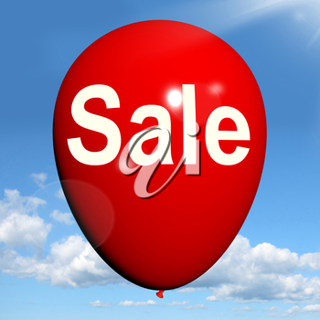 Sale Balloon Showing Discount and Offers in Selling