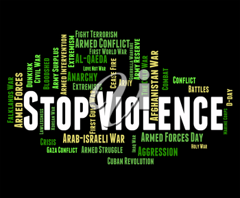 Stop Violence Showing Brute Force And Stopped