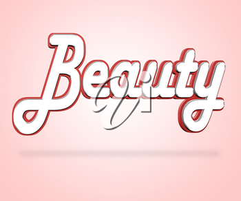 Beauty Word Indicating Good Looks And Appeal