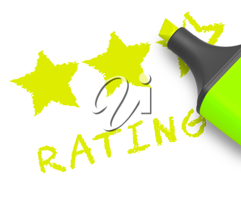 Stars Rating Displaying Performance Report 3d Illustration
