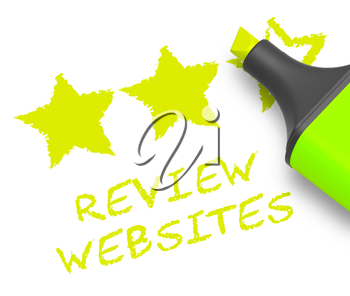 Review Websites Displaying Site Performance 3d Illustration