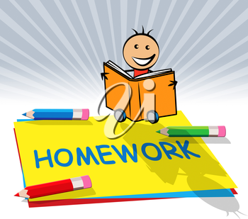 School Homework Paper Displays Training And Learning 3d Illustration