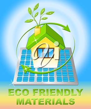 Eco Friendly Materials House Displays Green Resources 3d Illustration