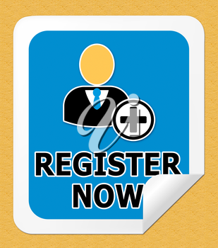 Register Now Icon Representing To Sign Up 3d Illustration