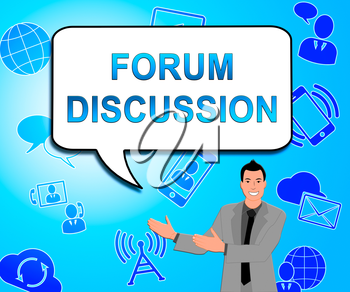 Forum Discussion Icons Showing Community Talk 3d Illustration