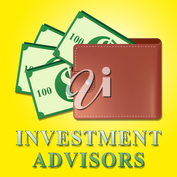 Investment Advisors Wallet Means Investing Advice 3d Illustration