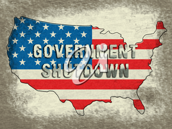 Government Shutdown Usa Means America Closed By Senate Or President. Washington DC Closed United States