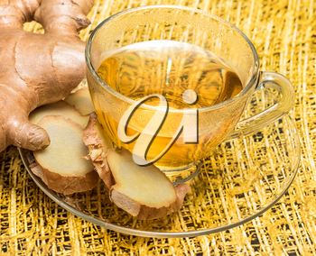 Ginger Tea Indicating Cup Organics And Drinks