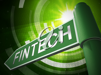 Fin Tech Financial Technology Business 3d Illustration Shows P2p Network finance Using Secure Distributed Crypto Currency