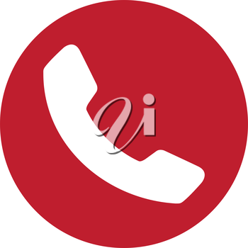Red Phone Icon Design. EPS 8 supported.