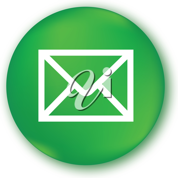 E-Mail Icon with Green Background Design.