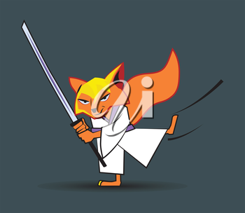 Ninja Fox Character Design