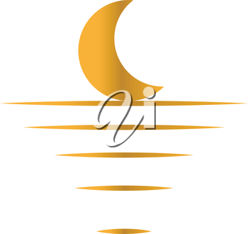 Moon Light Concept Design. Crescent, EPS 10 supported.