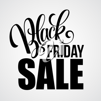 Black Friday Sale Calligraphic Design. Vector illustration EPS 10