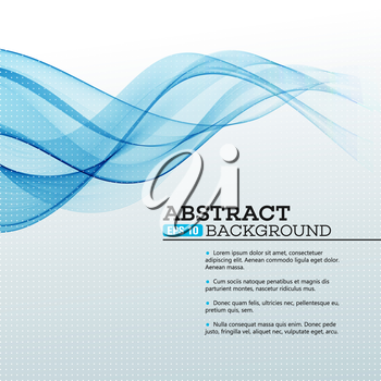 Blue Abstract waves background. Vector illustration EPS 10