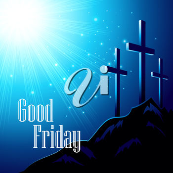 Good Friday. Vector illustration with the image of Calvary EPS10