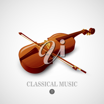 Violin.  Music instrument Vector illustration EPS 10