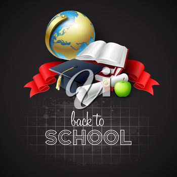 Back to school  background. Vector illustration EPS 10