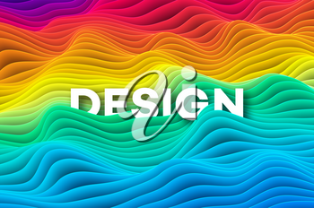 Colourful curve rainbow background. Vector illustration EPS10