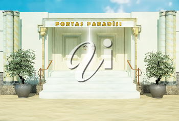 Bible gate in paradise.