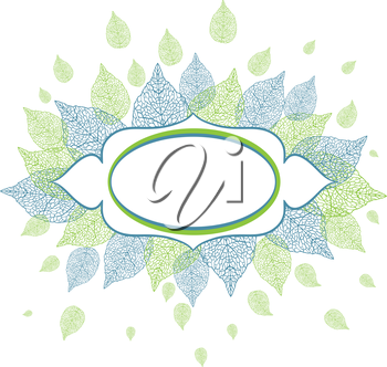 Vector illustration of leaves with plase for text.