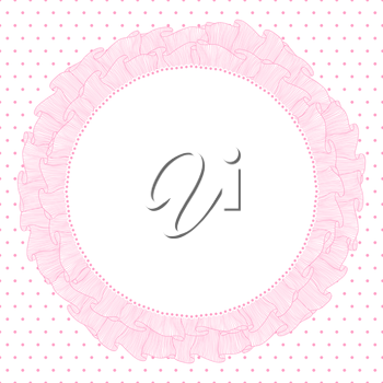 Lace and frills  hand drawn vector background.