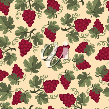 Seamless pattern with abstract grapes.
