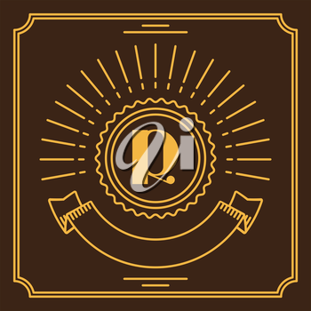 Simple and graceful monogram design in line art style.