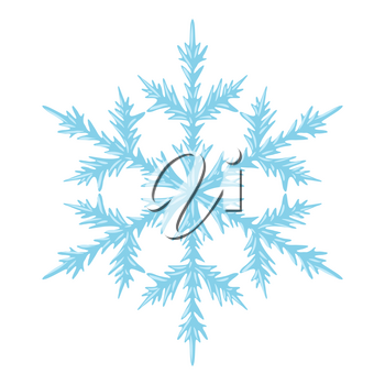 Illustration of crystal snowflake. Card for Merry Christmas and Happy New Year.