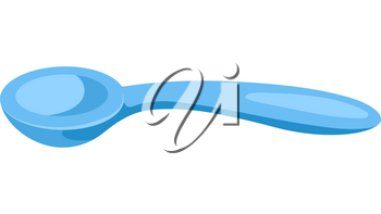Illustration of stylized baby spoon. Icon in carton style.