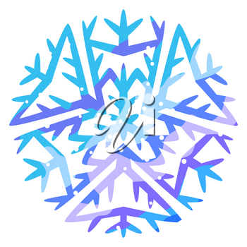 Winter abstract snowflake. Christmas or New Year illustration.