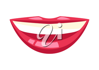 Illustration of human mouth. Stylized conceptual image.