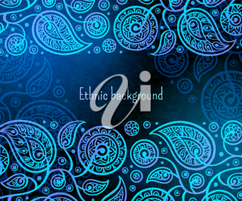 Ethnic background. Oriental decorative pattern. Boho style vector illustration.