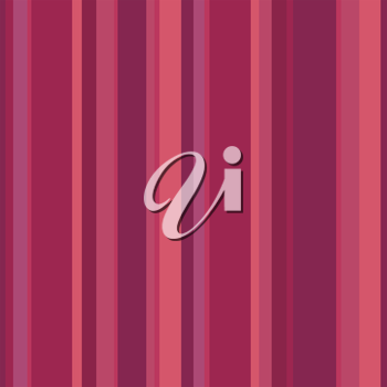 Abstract vector wallpaper with strips. Red and pink seamless colorful background