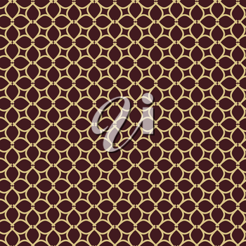 Seamless vector ornament. Modern background. Geometric modern brown and golden pattern