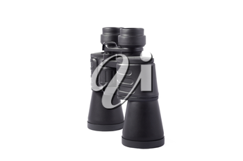 large black binoculars isolated on white