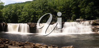High Falls of Cheat waterfall on Shavers Fork is accessible via the train trip from Elkins WV