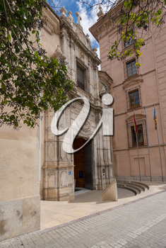 Entrance to Fine Arts or Belles Artes museum in Valencia, Spain