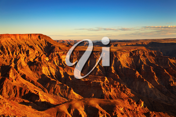 Fish River canyon- the second largest canyon in the world, South Namibia