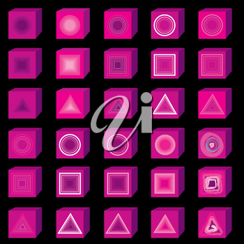 Flat multimedia icons. Music and sound button set.