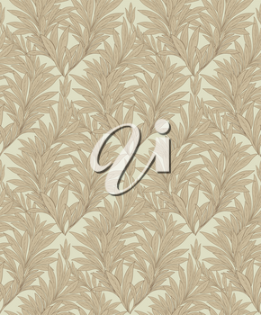 Floral seamless background. Decorative floirish pattern. Leaves ornament damask texture.