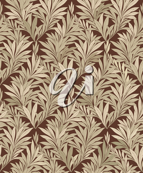 Abstract ornamental leaf texture. Floral seamless background. Decorative leave pattern.